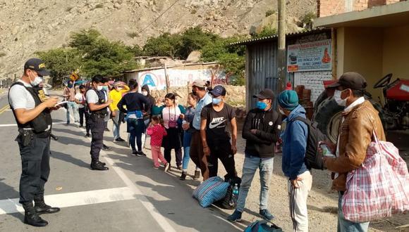 Cajamarca. Este es el panorama diario de personas en los controles de ingreso a esta región. (Gobierno Regional de Cajamarca)