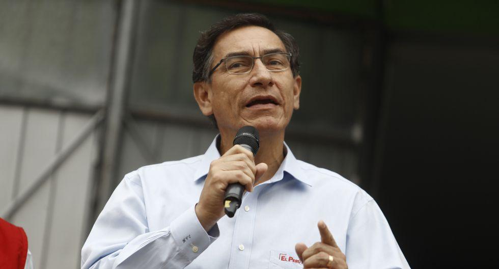 """""""Voten por candidatos que luego van a ser congresistas que trabajen para combatir la corrupción"""", dijo Martín Vizcarra. (Foto: GEC)"""