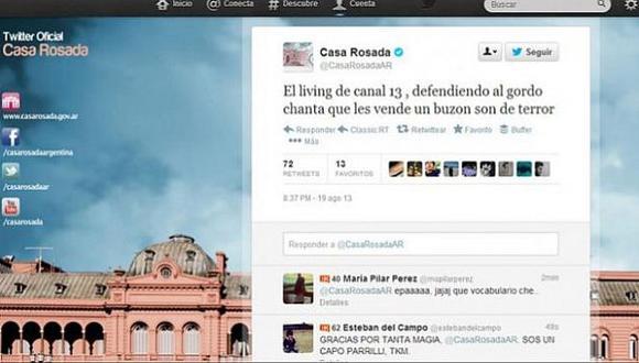 Tuit contra Jorge Lanata fue borrado tras su publicación y la cuenta se desactivó. (Internet)