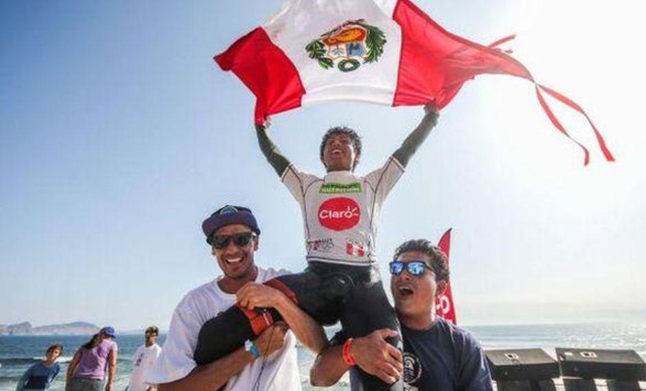 Juninho Urcia ganó medalla de oro en los Juegos Panamericanos de Surf 2015. (Difusión)