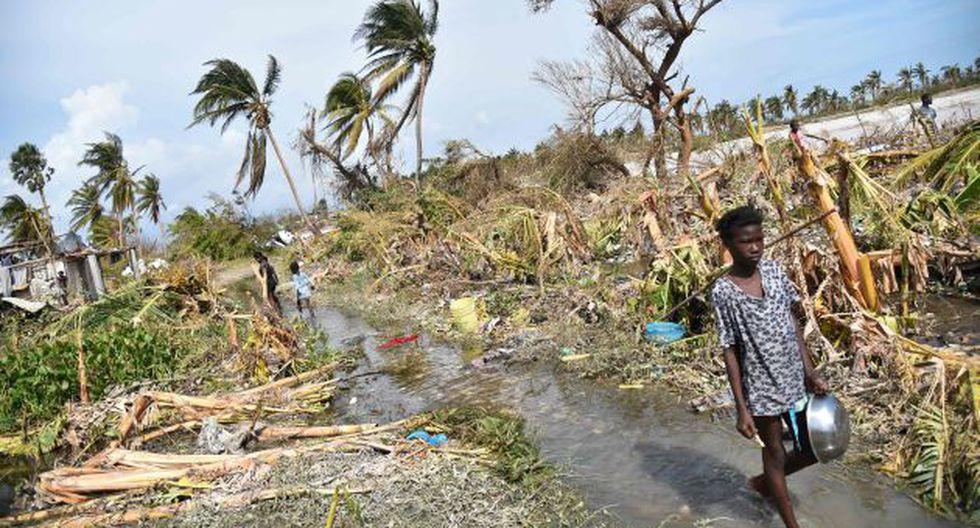 Haití de duelo por los centenares de muertos por el huracán Matthew. (AFP)