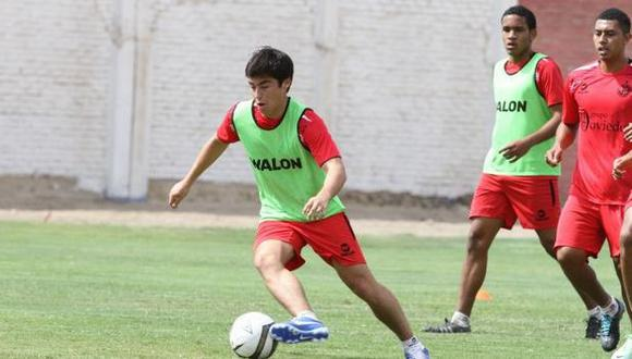 Rodrigo Cuba entrenó en la Videna junto a sus compañeros del Juan Aurich. (Violeta Ayasta/USI)