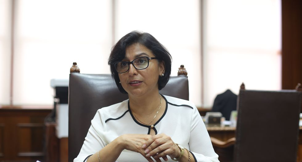 """La ministra Sylvia Cáceres aseguró que el anuncio del aumento de la remuneración mínima """"no es un tema nuevo"""". (Foto: GEC)"""