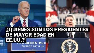 ¿Quiénes son los presidentes de mayor edad de Estados Unidos en sus tomas de mando?