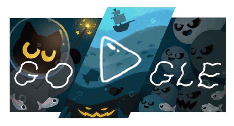 Google celebra Halloween con un divertido doodle de juego. (Google).