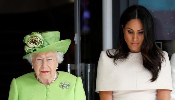 Meghan de Sussex habló con la reina Isabel II días antes del funeral de Felipe de Edimburgo. (Foto: AFP)