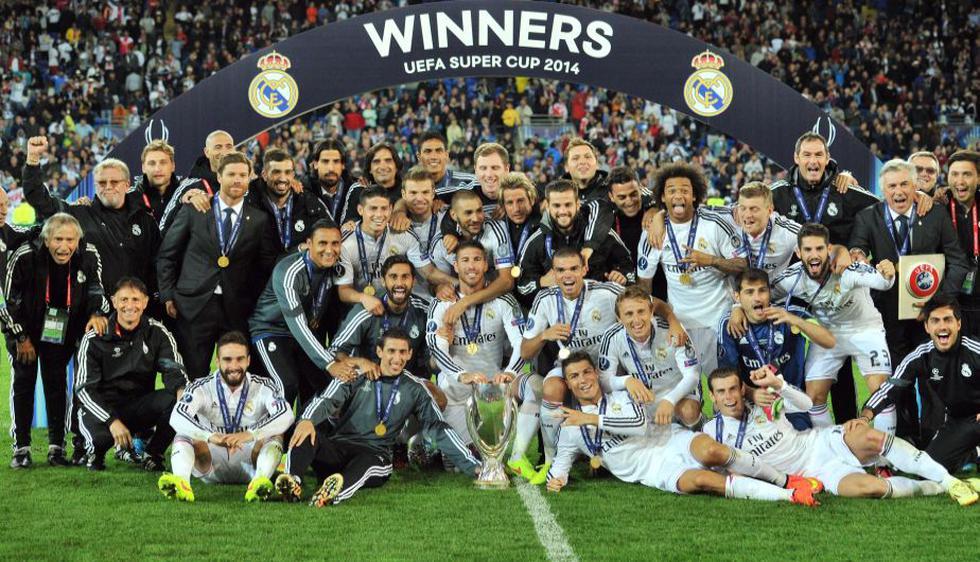 Real Madrid se proclamó campeón de la Supercopa de Europa al imponerse 2-0 al Sevilla en Cardiff. (AFP)
