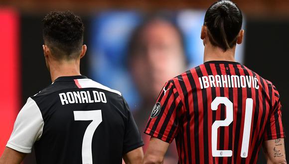 Cristiano Ronaldo y Zlatan Ibrahimovic son los máximos goleadores de la temporada en la Serie A. (Foto: AFP)