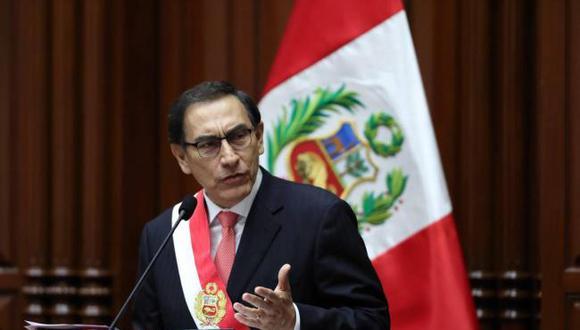 Aprobación del presidente Martín Vizcarra cayó 19 puntos en noviembre. (Foto: EFE)