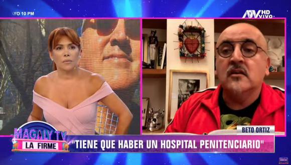 Beto Ortiz recomendó la habilitación de un hospital penitenciario. (Foto: Captura: Magaly TV La Firme)
