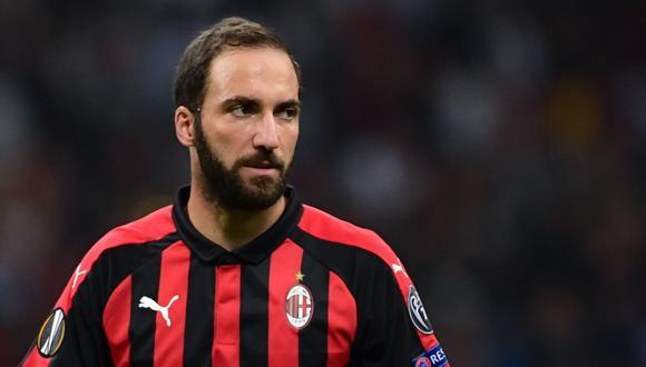 Gonzalo Higuaín se unió al AC Milan al iniciar esta temporada. (Foto: AFP)
