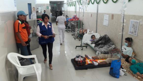 Así encontraron a los pacientes en el hospital Las Mercedes.