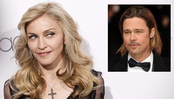 Madonna tuvo un sueño erótico con Brad Pitt. (Reuters)