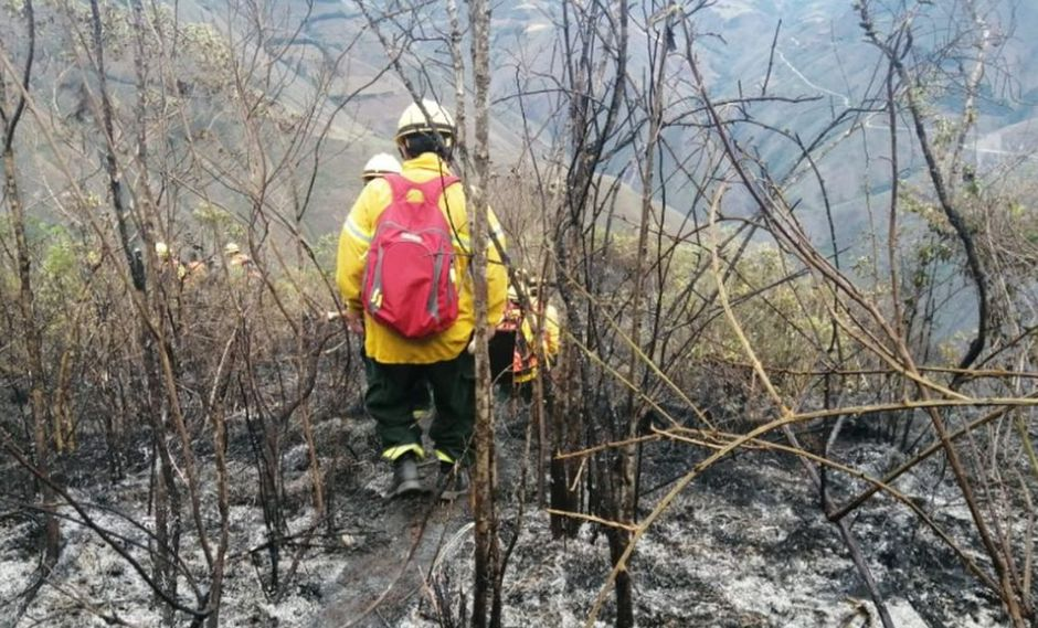 Se conformaron 8 cuadrillas de trabajo para confinar, controlar, extinguir y liquidar el incendio en la zona. (Foto: Indeci)
