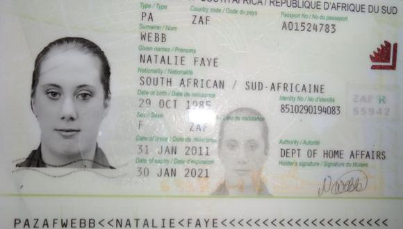 Pasaporte de la británica Samantha Lewthwaite. (AFP)