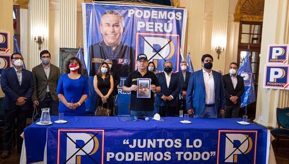 Daniel Urresti fue el candidato presidencial de Podemos Perú en las Elecciones Generales de Perú de 2021 del pasado 11 de abril. (Foto: Podemos Perú)