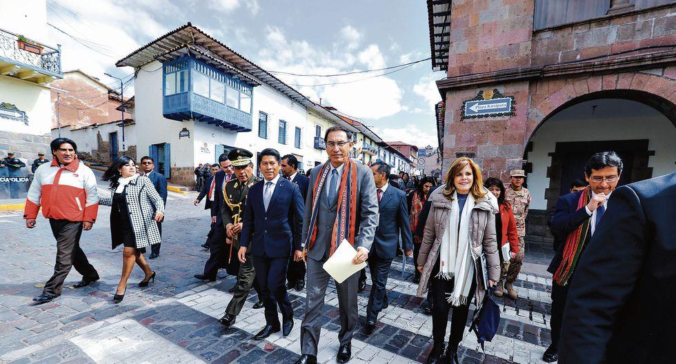 Bajo análisis. Vizcarra dio declaraciones desde Cusco, pero no fue claro sobre el futuro del ISC. (USI)