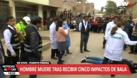 El hombre caminó solo cinco cuadras y fue interceptado por unos sujetos. (Video: ATV +)
