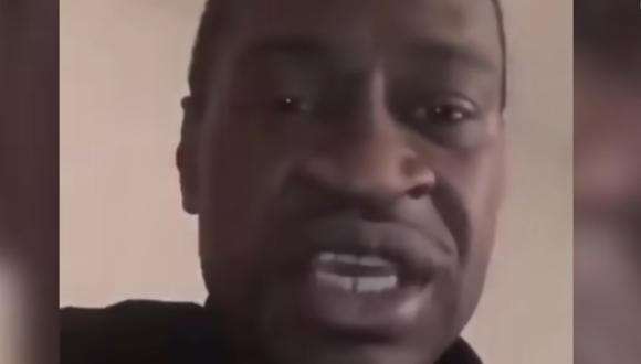 George Floyd reflexionó en un video casero sobre la necesidad de terminar con la violencia armada. (Captura/ YouTube).