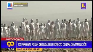 Israel: cientos de personas desnudas buscan alertar sobre la contaminación del mar Muerto