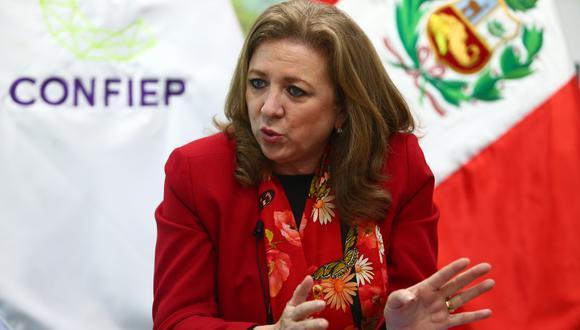 """""""Se trataba de cubrir activos críticos que necesitaran un stock mínimo de personal"""", dijo la presidenta de Confiep. (Foto: GEC)"""
