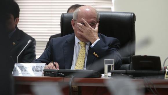 Se defiende. Ministro Pedro Cateriano negó que haya filtrado la denuncia a la prensa. (César Fajardo)