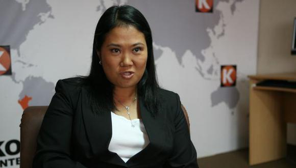 HORA CERO. Keiko podría apelar a todo el peso de su bancada en el Parlamento para el indulto. (Luis Gonzáles)