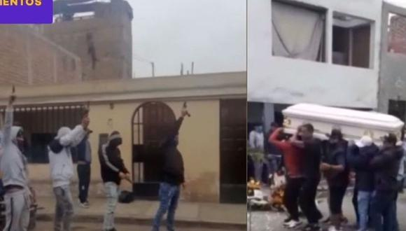 El velorio del delincuente Jesús Salas Alvarado se realizó con balazos al aire. (Latina)