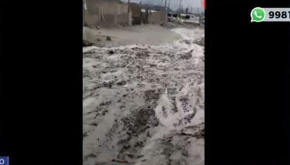 Zona Vallecito, en Chosica. Descartan caída de Huaico. (Captura)