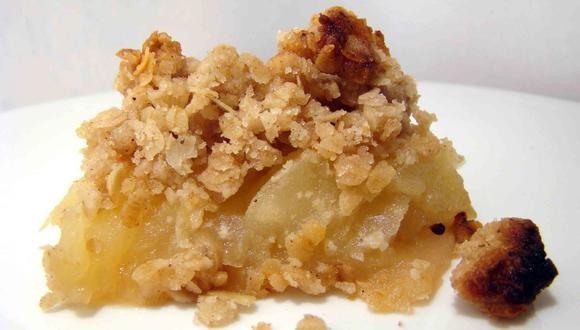 Mira esta sencilla receta para preparar un Crocante de manzana