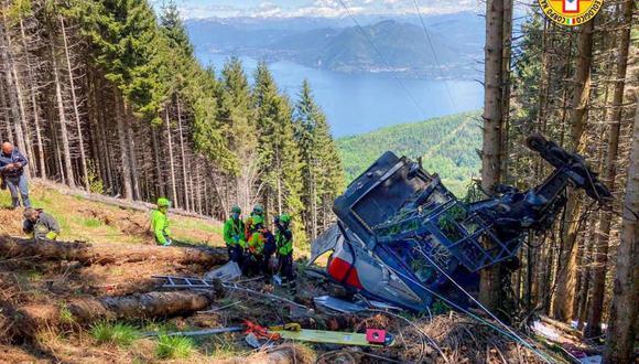 El accidente, provocado aparentemente por la rotura de un cable de sujeción de la cabina, se produjo en torno a las 13.00 horas locales. (Foto: EFE).