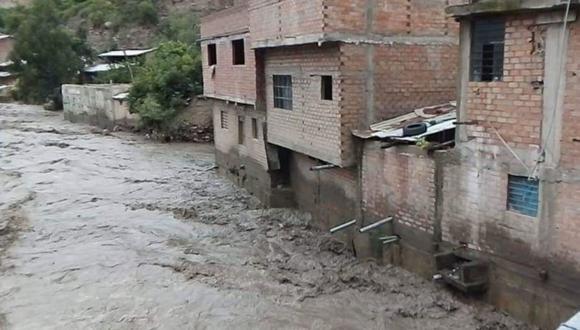 Aproximadamente 13 familias se encuentran en peligro ante esta emergencia. (Foto: Andina)