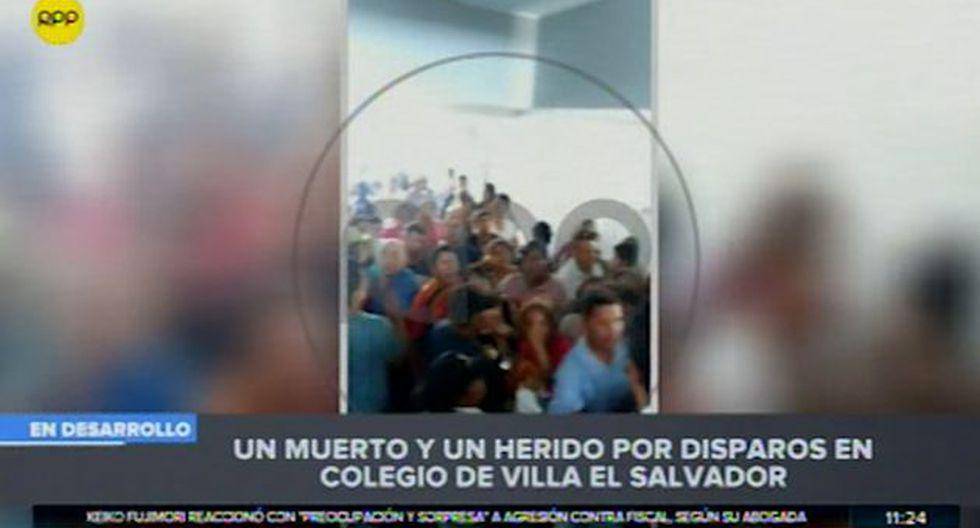 Colegio Trilce suspendió las clases tras el hecho. Padres de familia piden más seguridad (Captura: RPP Noticias)