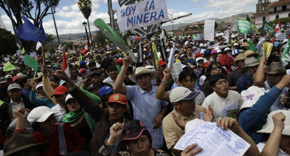 MALVERSACIÓN. Santos financió las marchas contra la minería. (Rafael Cornejo)
