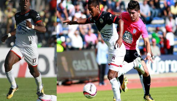 Pedro Aquino y Luis Advíncula llegaron a Lobos BUAP en esta temporada. (AFP)