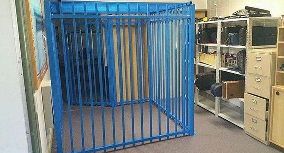 Escuela encerraba en una jaula azul a niño autista de 10 años. (Camberra Times)
