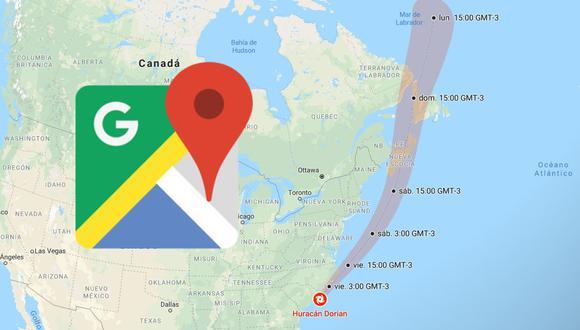 Conoce la hora exacta y en qué lugares del mundo pasará el huracán Dorian gracias a Google Maps. (Foto: Google)