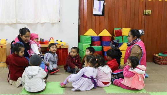 Cuna Más atiende a 170,890 niñas y niños, así como a gestantes por medio de sus servicios Cuidado Diurno y Servicio de Acompañamiento a Familias. (Foto: Midis)