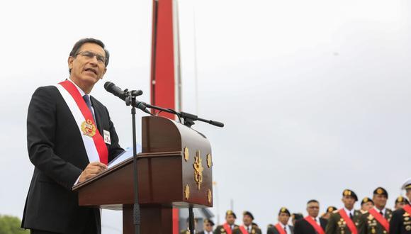 El presidente Martín Vizcarra participó en ceremonia por el 195 aniversario de la Batalla de Ayacucho (Andina).