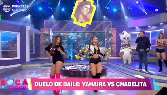 "Yahaira Plasencia e Isabel Acevedo bailaron al ritmo de ""U LA LA"". (Foto: Captura América TV)"