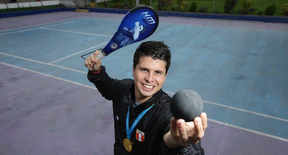 Kevin Martínez, oro de frontón en los Juegos Panamericanos Lima 2019. (Jesús Saucedo / GEC)