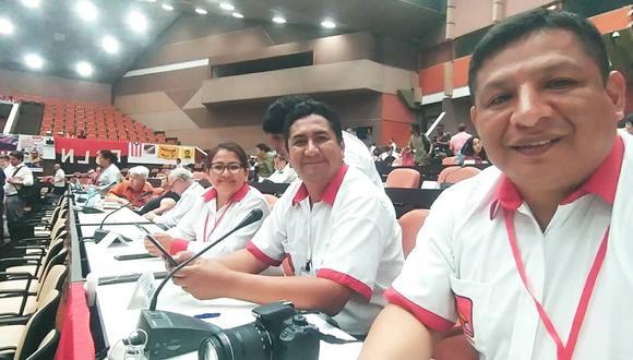 Vladimir Cerrón al lado de su mano derecha Richard Rojas. (Facebook Richard Rojas García)