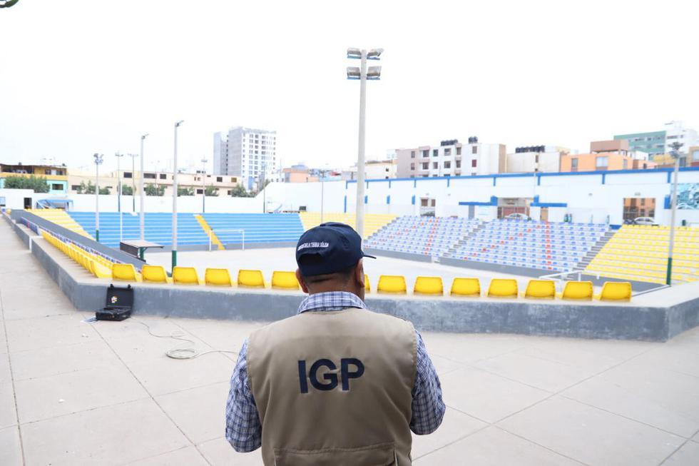 Actualmente este recinto deportivo forma parte de los estudios de suelo que viene desarrollando el IGP. (Foto: Difusión)