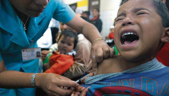 Alerta. Niños menores de cinco años pertenecen a la población más vulnerable ante el sarampión. (USI)