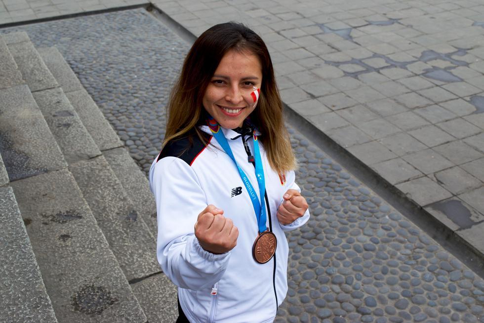 Saida Salcedo, medallista de bronce en karate de kata por los Juegos Panamericanos 2019. (Fotos: Naoko Ivazeta)