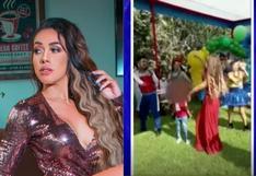 Dorita Orbegoso le realizó fiesta a su hijo luego de revelar que su pareja enfermó con la variante brasileña