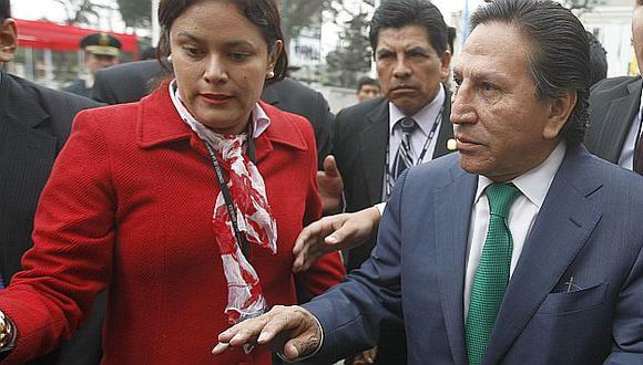 Alejandro Toledo no pudo llevar esta vez su portátil. (USI)