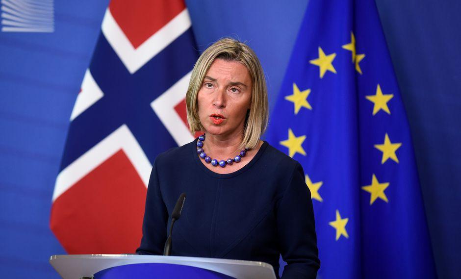 Federica Mogherini, jefa de la diplomacia europea. (Foto: AFP)
