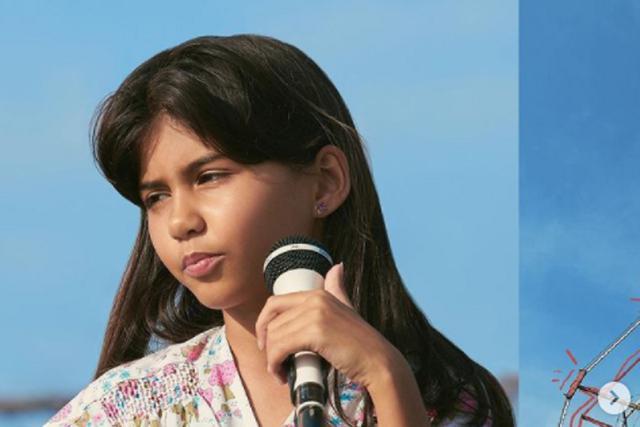 Madison Taylor Baez es conocida como la Niña Himno (Foto: Netflix)