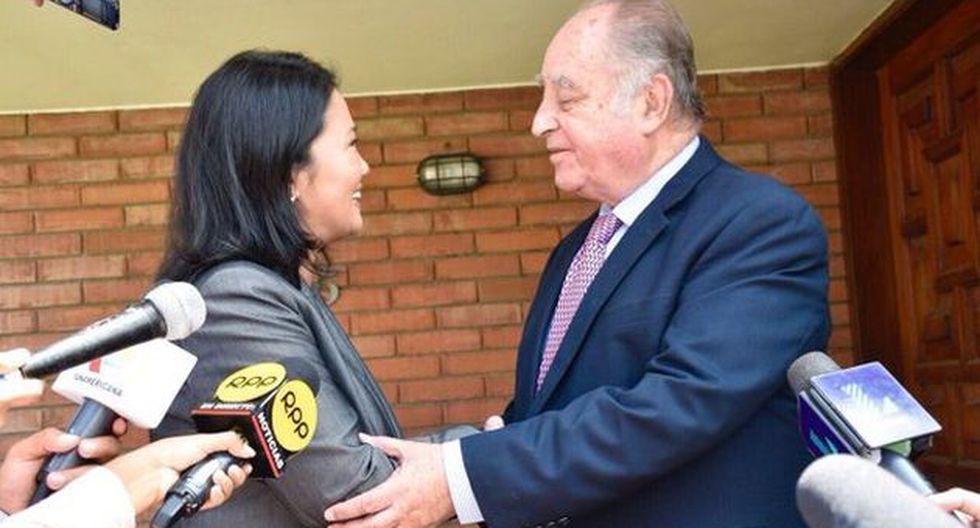 Se las busca. Keiko Fujimori se reunió con Ántero Flores-Aráoz. (@KeikoFujimori)